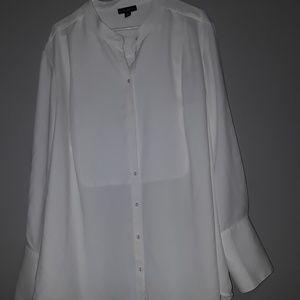 Victoria beckham white blouse